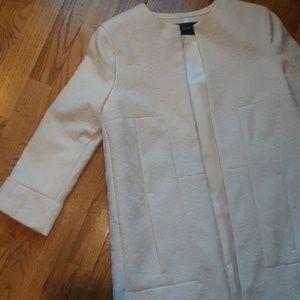Zara NWT White Duster Coat w. Pockets
